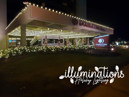 The Christmas Experience at DoubleTree Binghamton, decorated by Illuminations Holiday Lighting