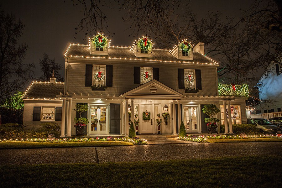 Elegant Christmas Lights on a home